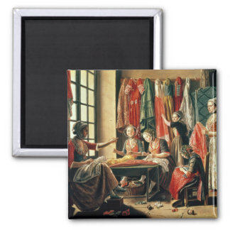 The Couturier's workshop, Arles, 1760 2 Inch Square Magnet