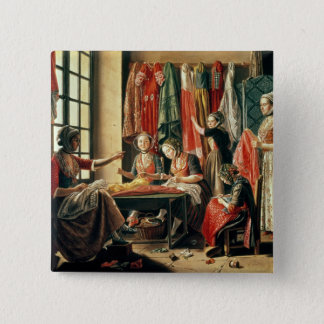 The Couturier's workshop, Arles, 1760 Pinback Button