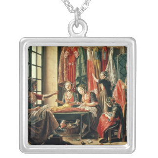 The Couturier's workshop, Arles, 1760 Silver Plated Necklace