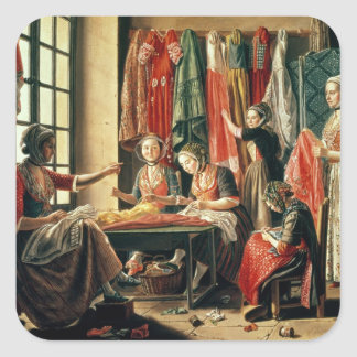 The Couturier's workshop, Arles, 1760 Square Sticker