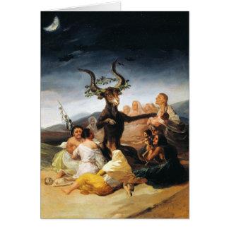 The Coven Francisco José de Goya masterpiece paint Card
