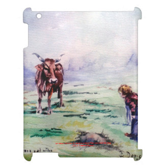 The cow and the boy/The cow and the I go Cover For The iPad