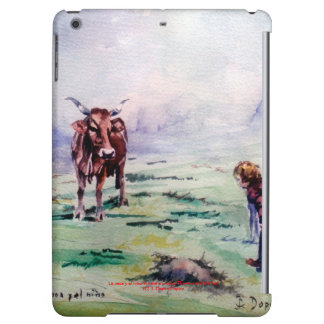 The cow and the boy/The cow and the I go iPad Air Covers