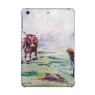 The cow and the boy/The cow and the I go iPad Mini Cases