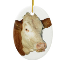 The Cow Ceramic Ornament