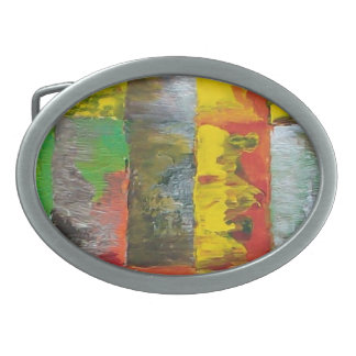 The Cow In The Barn Oval Belt Buckle