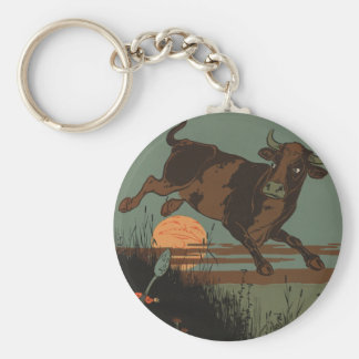 The Cow Jumped Over the Moon Keychains
