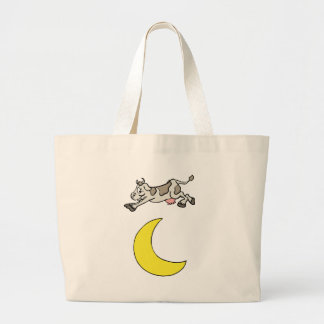 The Cow Jumped Over The Moon Large Tote Bag