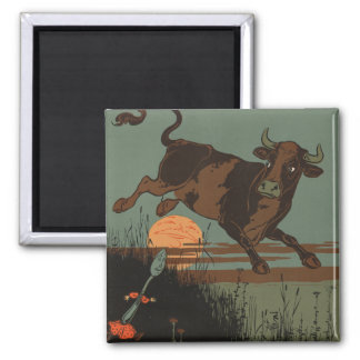The Cow Jumped Over the Moon Refrigerator Magnet