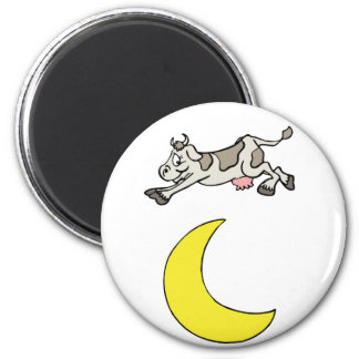 The Cow Jumped Over The Moon Fridge Magnet