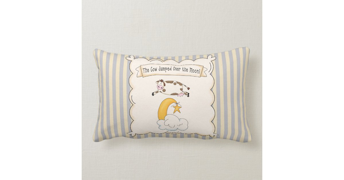 The Cow Jumped over the moon MoJo Throw Pillow