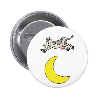 The Cow Jumped Over The Moon Pinback Button