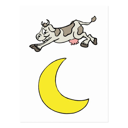 The Cow Jumped Over The Moon Postcard