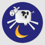 The Cow Jumped Over the Moon Round Stickers