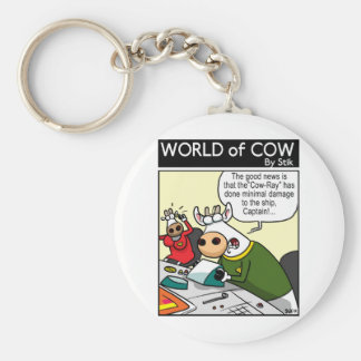 """The """"COW-RAY"""" Basic Round Button Keychain"""