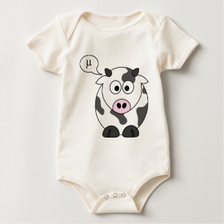 The Cow Says μ Baby Bodysuit