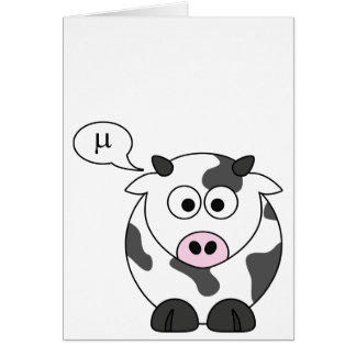 The Cow Says μ Cards