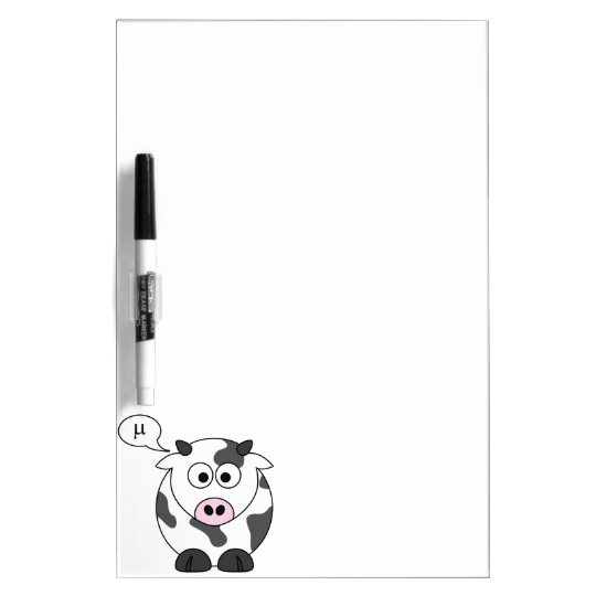 The Cow Says μ Dry-Erase Board