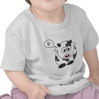 The Cow Says μ Tee Shirts