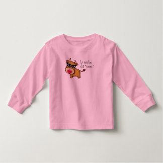 """""""The cow says moo"""" Toddler's Long Sleeve Tees"""