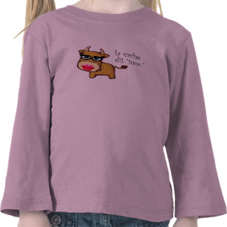 """""""The cow says moo"""" Toddler's Long Sleeve Tee Shirt"""