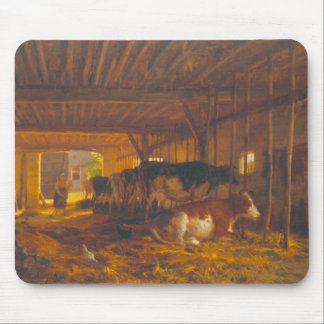 The Cow shed, 19th century Mouse Pad