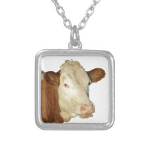 The Cow Silver Plated Necklace