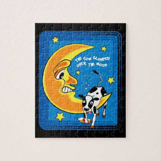 The cow slumped over the moon jigsaw puzzle