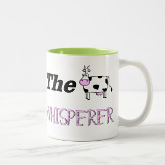 The Cow Whisperer Gifts Two-Tone Coffee Mug