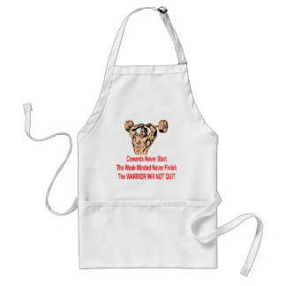 The Coward, The Weak And The Warrior Adult Apron