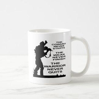 The Coward, The Weak And The Warrior Military Coffee Mug