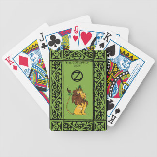 The Cowardly Lion Bicycle Playing Cards
