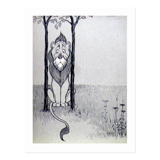 The Cowardly Lion Postcard