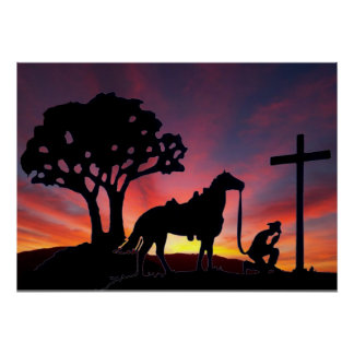 The Cowboy at the foot of the cross poster art
