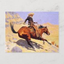 The Cowboy (by Frederic Remington) Postcard