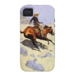 The Cowboy by Remington, Vintage American West Art Case-Mate iPhone 4 Cover