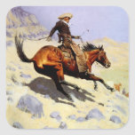 The Cowboy by Remington, Vintage American West Art Stickers