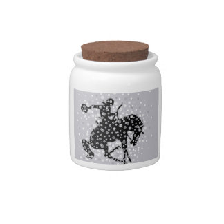 The cowboy. candy jars