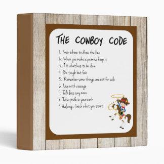 The Cowboy Code 3 Ring Binder
