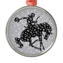 The cowboy. metal ornament