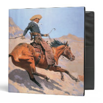 The Cowboy (oil on canvas) Binder
