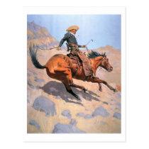 The Cowboy (oil on canvas) Postcard