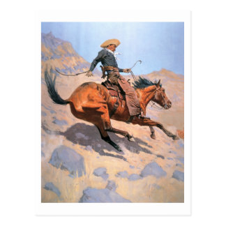 The Cowboy (oil on canvas) Postcard