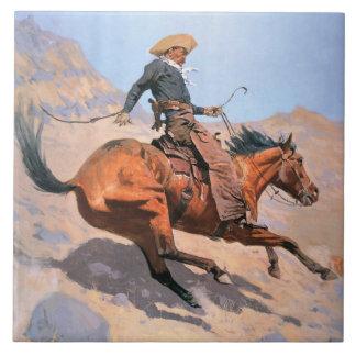 The Cowboy (oil on canvas) Tile