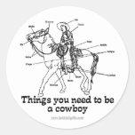 The Cowboy Round Sticker