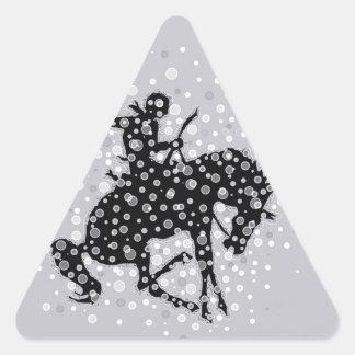 The cowboy. triangle sticker