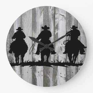 THE COWBOY WAY WALL CLOCK