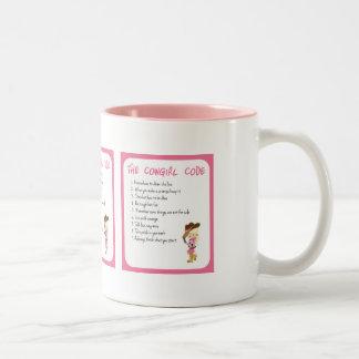 The Cowgirl Code Two-Tone Coffee Mug