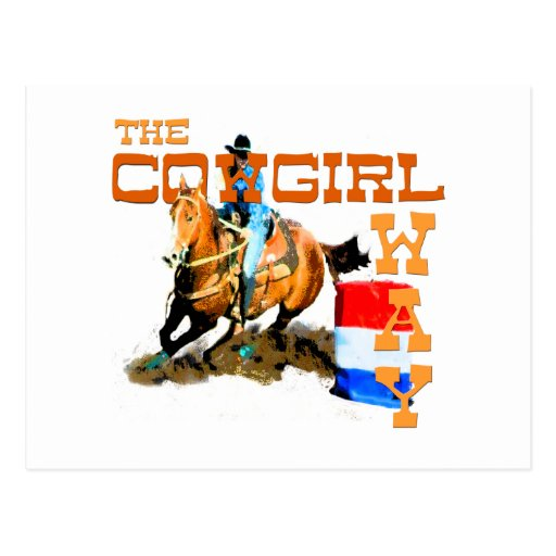 The Cowgirl Way gifts Postcard