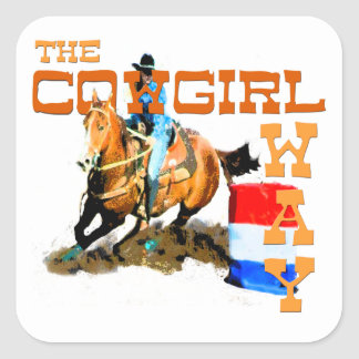 The Cowgirl Way gifts Square Sticker